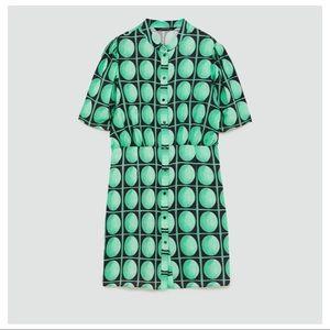 NWT. Zara mini dress with print. Size XS.